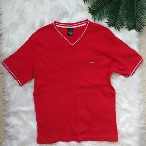 Vintage Tommy Hilfiger Red Short Sleeve Shirt XL
